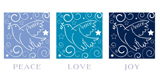 More information on Peace, Love and Joy Doves - Christmas Cards